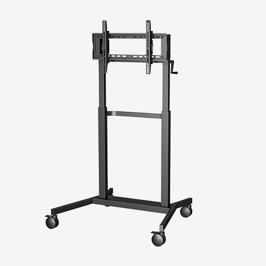 WH3191 55-75 Inch Customizable Mobile Rolling TV Cart